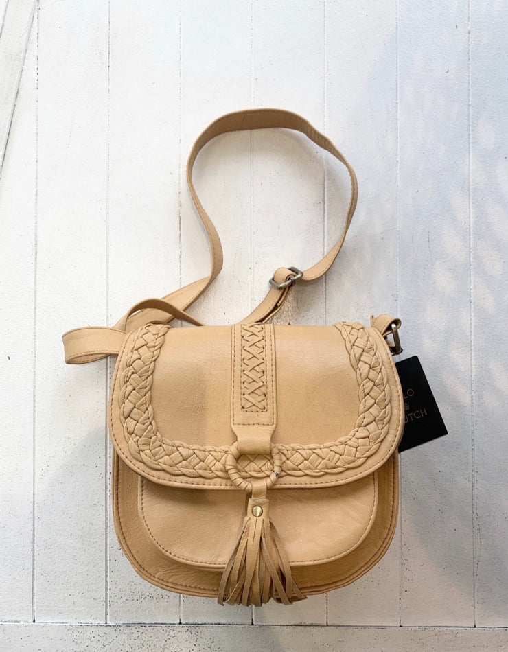 Camel Leather Shoulder Bag