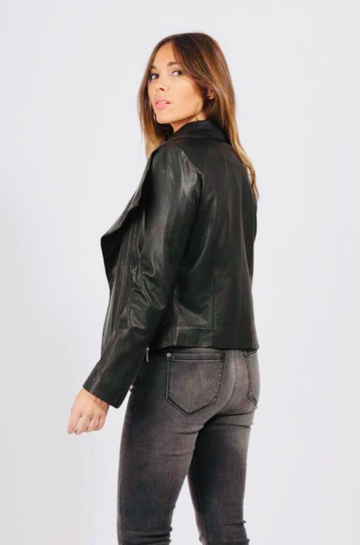 Sienna all Leather collar  Jacket