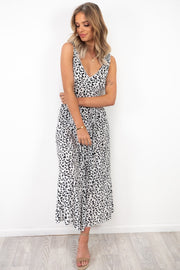 April | Leopard Print Maxi Black And White Print