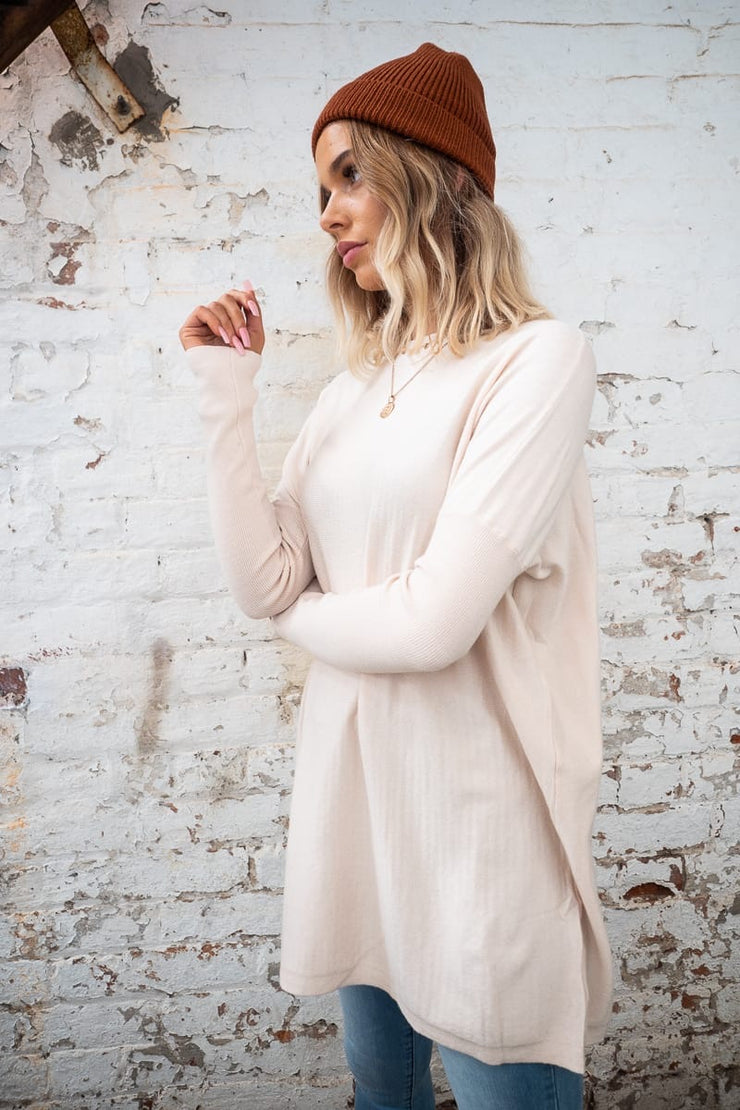 Ava Loose Fitting Jumper In Cream