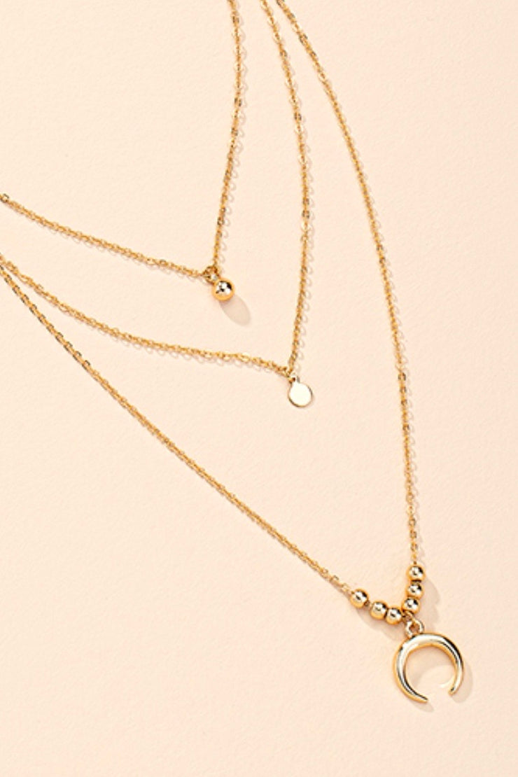Ava double Chain Gold Set Necklace
