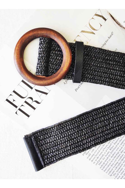 Elly Rattan Black Belt