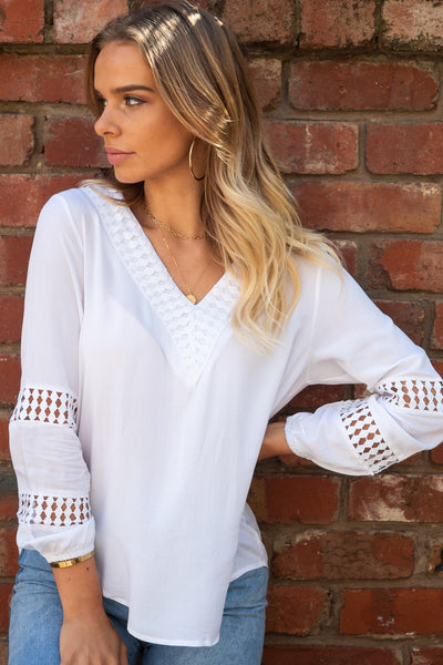 Alba | Long Top in White