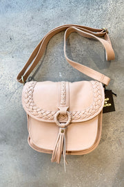 Hutch | Pink Beige Lambskin Leather Bag