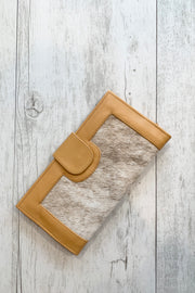 Lani Camel Leather Cowhide Wallet