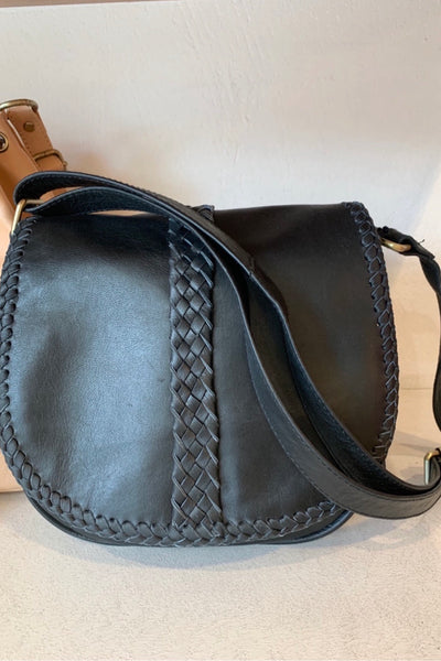 Lambskin Leather Long Strap Shoulder Bag