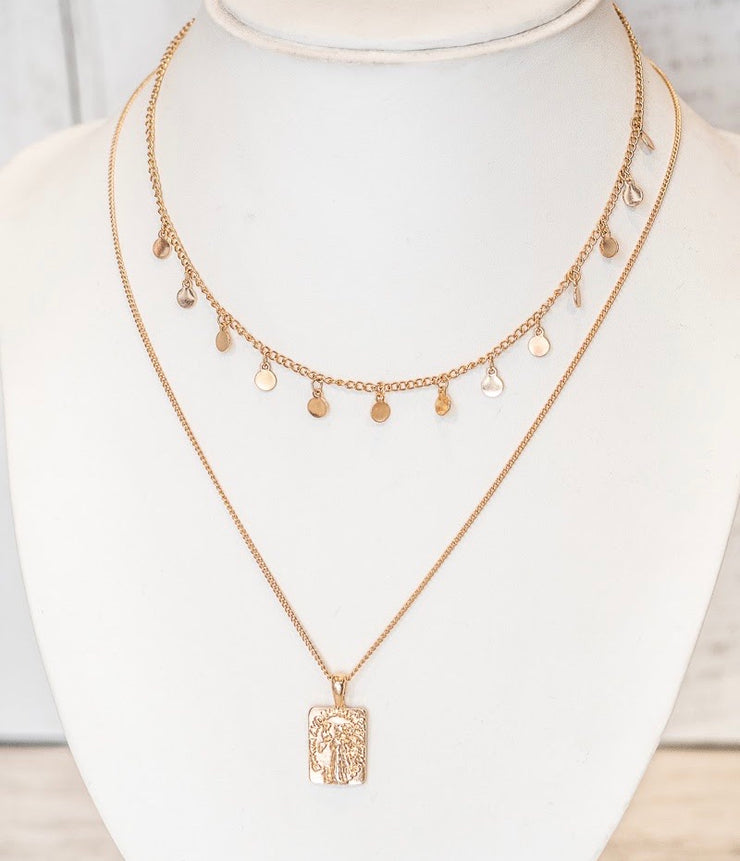 Halo Gold Set Necklace