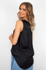 Macy | Black Sleevless Top
