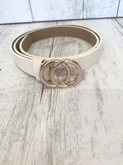 Nude Gold Buckle Belt