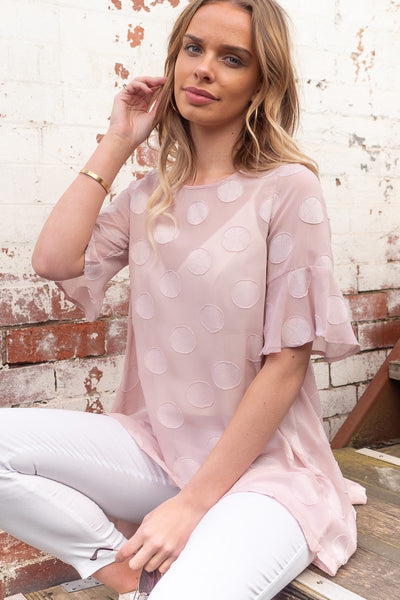 Polli | Asymmetric Hem Top in Blush