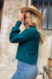 Mia | Fluffy Knit In Green