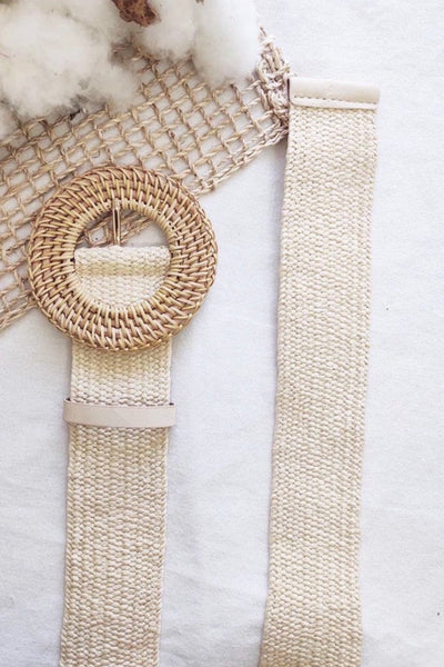 Elly Rattan Belt in Natural