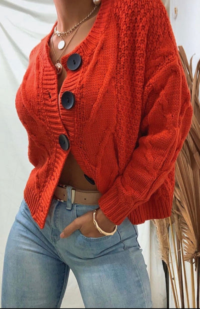 Mica cable knit cardi