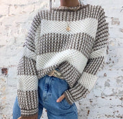 Giselle Beige & Cream Stripe Knit Jumper