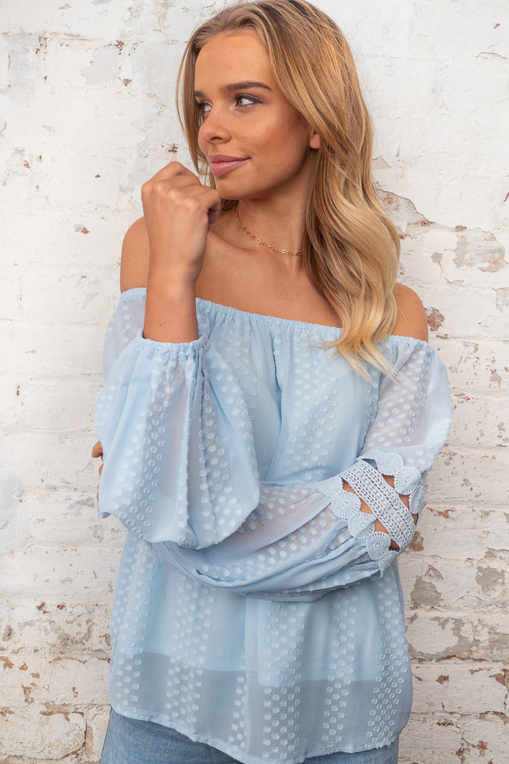 Leah Top in Ice Blue