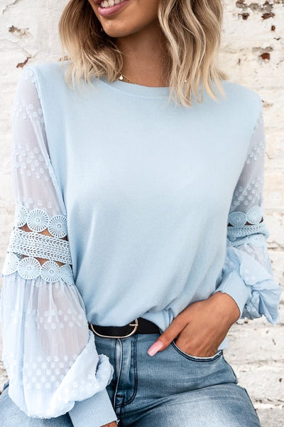 Molli Top in Ice Blue
