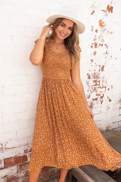Lexi Dress in Mustard
