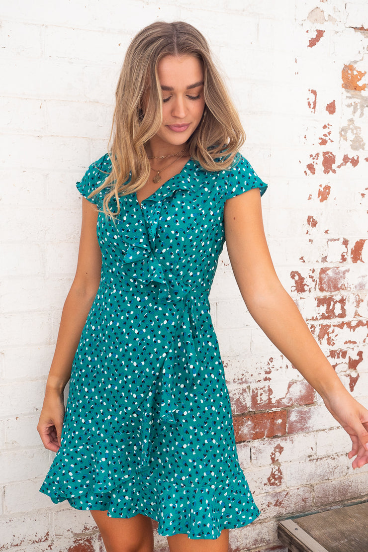 Natasha Dress in Emerald