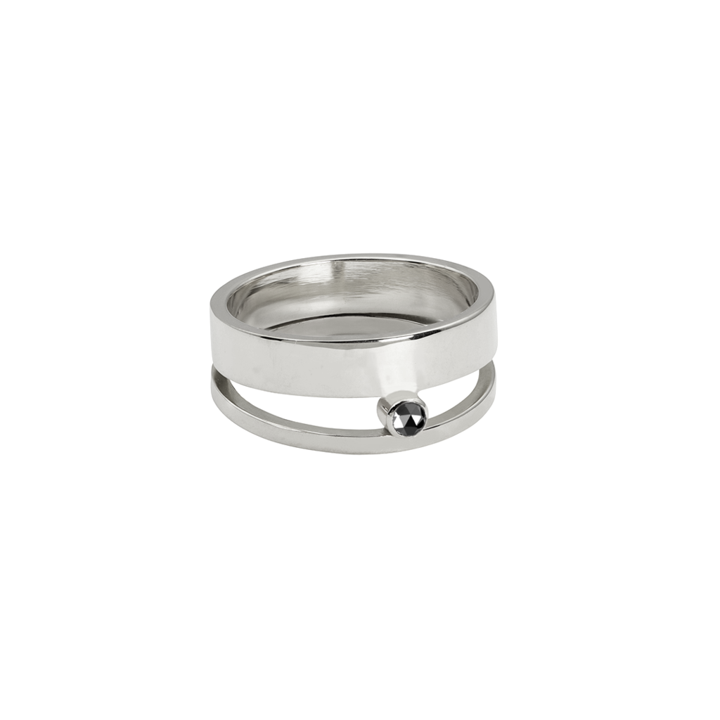 HOVER RING, BLACK DIAMOND