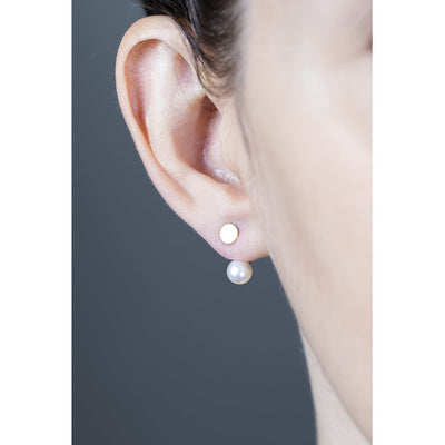 DISC AND PEARL FLOATER EAR JACKETS