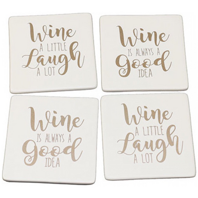 Wine Coasters (White)