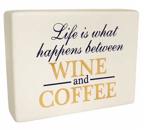 White Sign Board (Wine and Coffee)