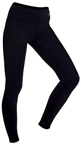 Women's Compression Pants (Black - M) Best Full Leggings Tights for Running, Yoga, Gym by CompressionZ