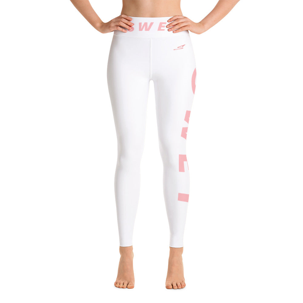Official SWET Ghost leggings Pink Print thick waist band