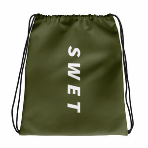 Custom SWET army Green Drawstring bag