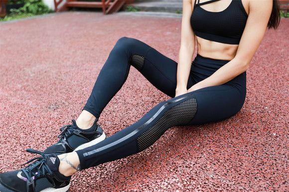 Women Elastic Splice Sport Leggings