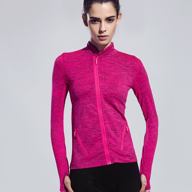 Women's Yoga Shirts Long Sleeve Running Shirts Tops Compression Tights Sportswear Fitness Workout Quick Dry Breathable Shirts