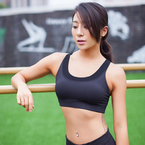 Women Yoga Shirt Running Sports Bra Yoga Gym Top