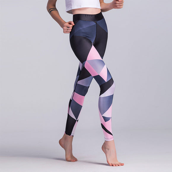 Yoga Pants Print Sports Leggings Fitness Running Tights