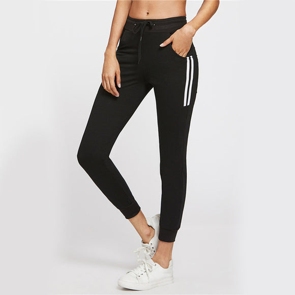 Side striped fit joggers