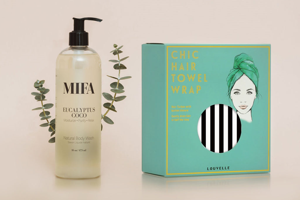 EUCALYPTUS Wash + LOUVELLE Wrap Set
