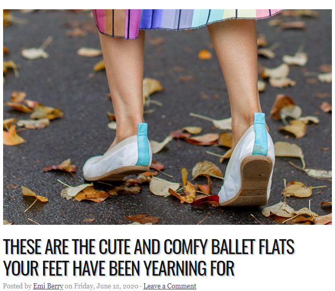The F-com.au - Why Cammino ballet flats are so great