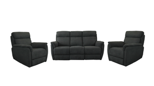 Reece 3 piece Recliner Suite with 2 Single Recliners