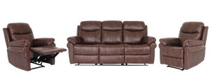 Charlie 3 Piece Recliner Suite with 2 Single Recliners