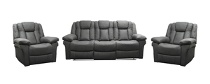 Bosco 3 Piece Recliner Suite with 2 Single Recliners