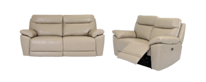 Lorde Leather 2 Piece Electric Recliner Suite