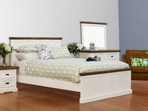 Hamptons 5 Piece King Dresser Bedroom Suite