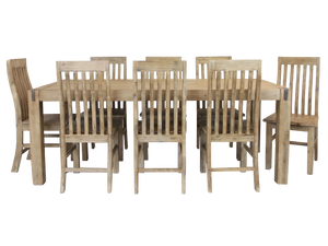 Silverstrike 9 Piece 210 Wooden Dining Suite