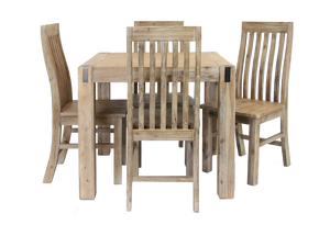 Silverstrike 5 Piece 90 Wooden Dining Suite