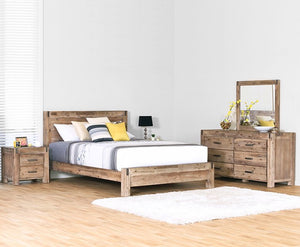 Silverstrike 5 Piece Queen Bedroom Suite