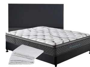 Comfort Touch Queen Mattress+Sleepwell Queen Base+Sleepwell Queen Headboard+Brolly Queen Mattress Protector
