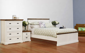 Hamptons 4 Piece Queen Bedroom Suite