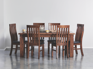 Farmhouse 7 Piece 180 PU Dining Suite