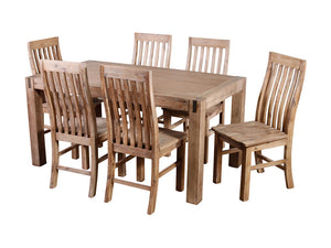 Silverstrike 7 Piece 180 Wooden Dining Suite