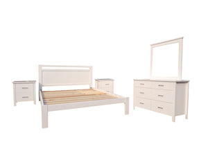 Ice 5 Piece Queen Bedroom Suite