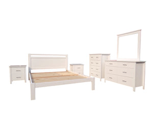 Ice 6 Piece Queen Bedroom Suite